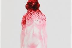 mujer cabeza pájaro